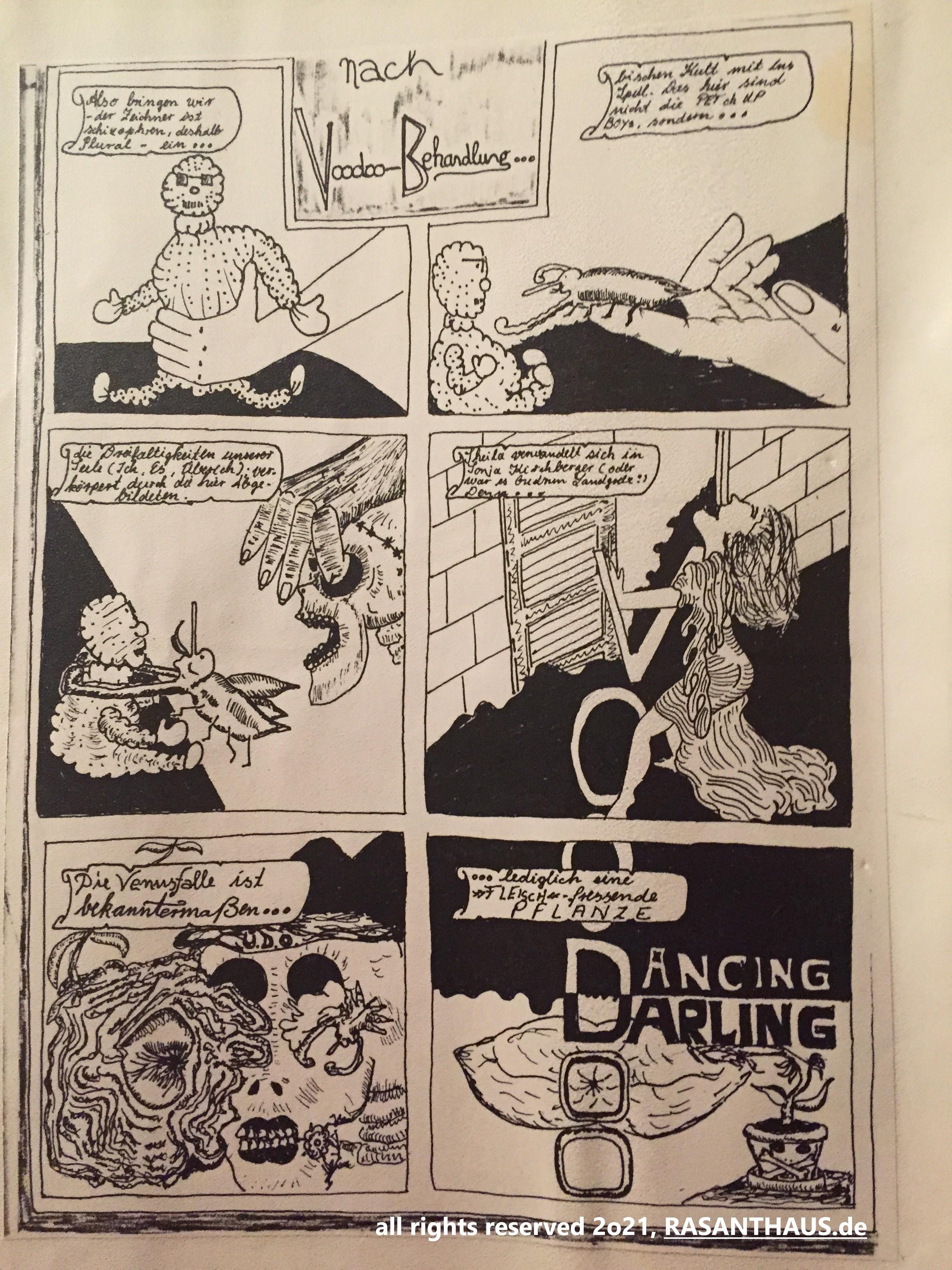 Comicszenen aus 'Preis nach V. B.' ist in der DTP-Nachbearbeitung